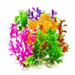 "Aquatop Plant 7"" Assorted Color Weighted Base Profit Power Pack 12 Pieces"