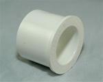 "PVC Reducer Bushing 1.5"" x 1"" - SxS WHITE"