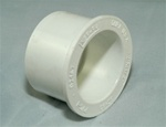 "PVC Reducer Bushing 2"" x 1.5"" - SxS WHITE"
