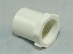 "PVC Reducer Bushing 3/4"" x 1/2"" - SxT WHITE"