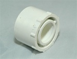 "PVC Reducer Bushing 1.5"" x 3/4"" - SxT WHITE"