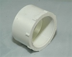 "PVC Reducer Bushing 2"" x 1.5"" - SxT WHITE"