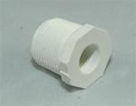 "PVC Reducer Bushing 3/4"" x 1/4"" - TxT WHITE"