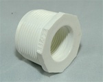 "PVC Reducer Bushing 1.25"" x 3/4"" - TxT WHITE"