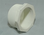 "PVC Reducer Bushing 1.5"" x 1"" - TxT WHITE"