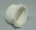 "PVC Reducer Bushing 2"" x 1.5"" - TxT WHITE"
