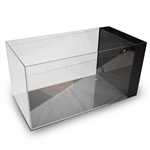 "Lifegard Crystal Peninsula Aquarium - Low Iron Ultra Clear - Side Filter With Pump 23.6""x11.8""x11.8"" - 14.2 Gallons"