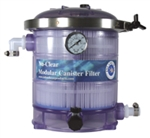 Nu-Clear Modular Canister Filter Model 533 with Micron Cartridge, Carbon & Gauge