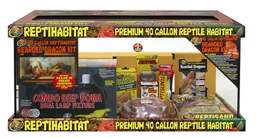 Zoo Med Reptihabitat Terrarium Bearded Dragon Kit 40 Gal