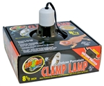 Zoo Med Dlx Porcelain Clamp Lamp (Blk-UL Listed) 8.5""