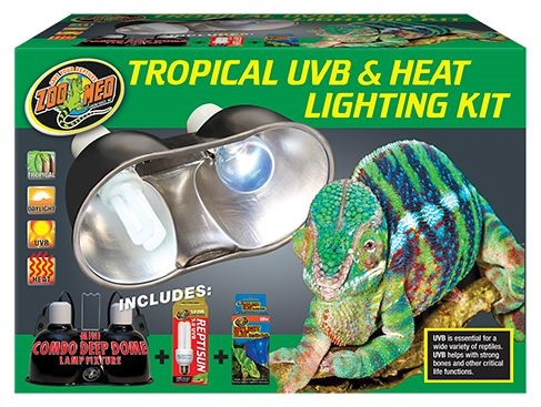 Zoomed Tropical Uvb Amp Heat Lighting Kit