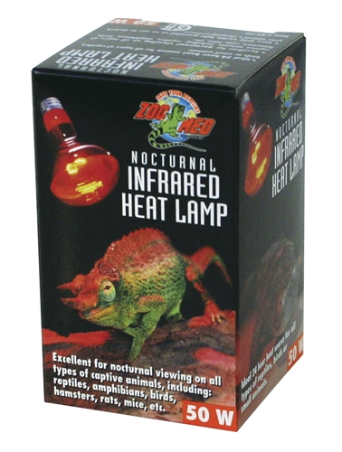 Zoo Med Red Infrared Heat Lamp 50w Csa Approved