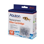 Aqueon Replacement Filter Cartridges MEDIUM 3 Pack