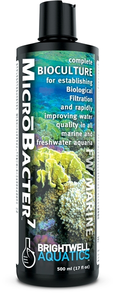 Brightwell MicroBacter 7 Complete Bioculture for Marine & FW Aquaria 500 ML