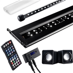 "Current USA Serene Freshwater LED Kit 24""-36"" w/ Background LED, WIreless Remote Control and Speakers"