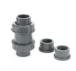 "PVC Ball Check Valve Gray 1"" SxS or TxT"