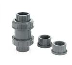 "PVC Ball Check Valve Gray 1.5"" SxS or TxT"