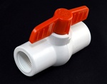 "PVC Ball Valve 3/4"" - TxT WHITE"