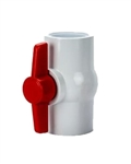 "PVC Ball Valve 2""  - TxT WHITE"
