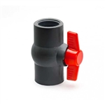 "PVC Ball Valve 1/2"" - TxT GRAY"