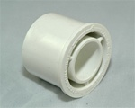 "PVC Reducer Bushing 1.5"" x 3/4"" - SxS WHITE"