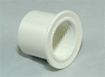 "PVC Reducer Bushing 1"" x 3/4"" - SxT WHITE"
