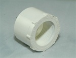 "PVC Reducer Bushing 1.5"" x 1"" - SxT WHITE"