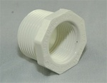 "PVC Reducer Bushing 1"" x 3/4"" - TxT WHITE"