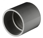 PVC Female Adapter - Schedule 80 - Gray - Socket x FPT - 1-1/2-Inch