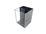 "Lifegard Elevated Aquarium - Low Iron Ultra Clear - Back Filter with Pump 7.9"" x 7.9"" x 9.8"" - 2.65 Gallon"