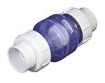 "Clear True Union Swing Check Valve 3/4"" S x S"