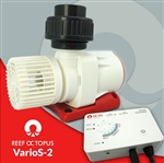 Reef Octopus Varios 2 DC  Water Pump  4.75in(W) x 5.7in(L) x 4in(H) Max Flow- 792gph Max Head- 13'