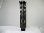 "Black Suction Screen 1"" x 8"" Tall 3/4"" Male Thread"