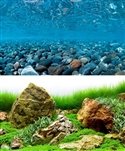 "Seaview River Rock/Sea of Green 18""x50' Double Sided Background"