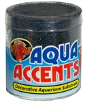 Zoomed Aqua Accents - Midnight Black Sand