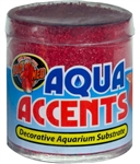 Zoomed Aqua Accents - Radical Red Sand