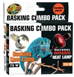 Zoo Med Basking Day and Night Lamps 75W Combo Pack