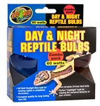 Zoo Med Day and Night Reptile Bulbs 60W Combo Pack