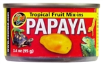 "Zoomed Tropical Fruit ""Mix-ins"" Papaya"