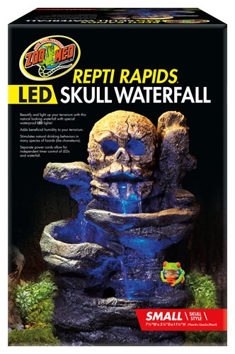 Zoomed Repti Rapids Led Skull Waterfall Sm